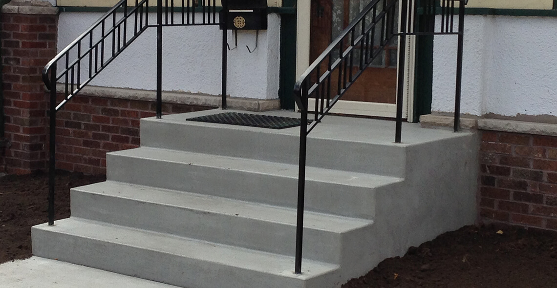 Cement Entrance Steps
