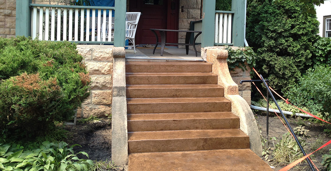 Concrete Entrance Steps Minneapolis